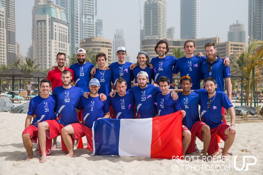 equipe de France ultimate Open Beach 2015
