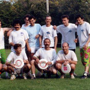 1991 Notre Dame Marc + Bruno + Frédo + Gérard + Manu + Jean-Robert